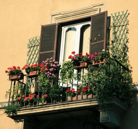 цветочные балконы