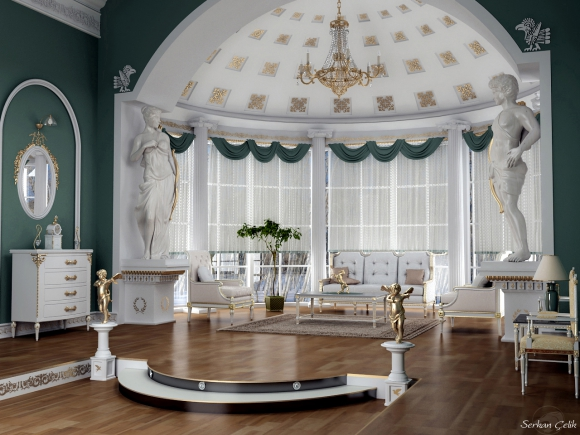 классический дизайн интерьера