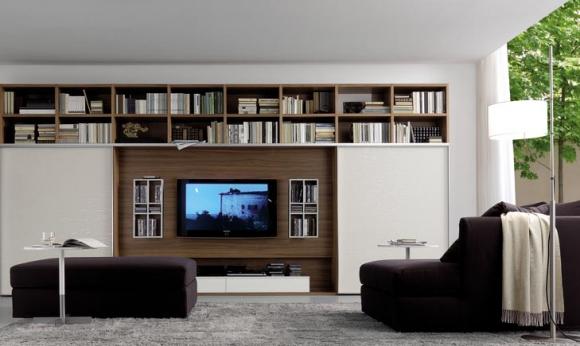 дизайн интерьера с телевизором