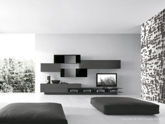 минимализм в дизайне зала