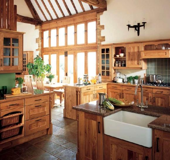 дизайн кухни в англиском стиле