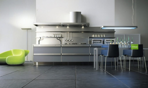 японский дизайн интерьера - кухня