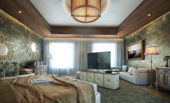 классичечская  романтическая спальня