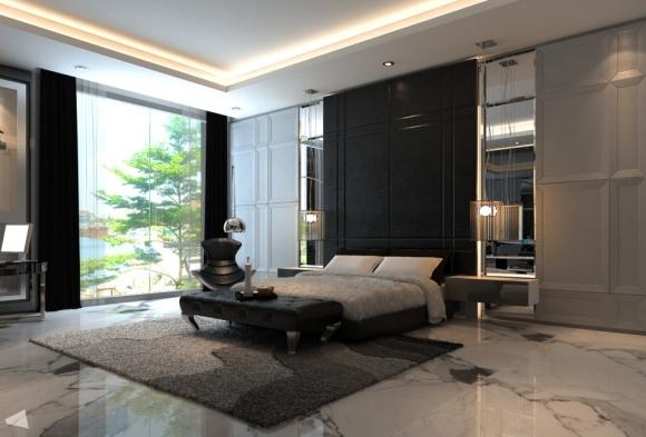 стеновые панели в оформлении спальни