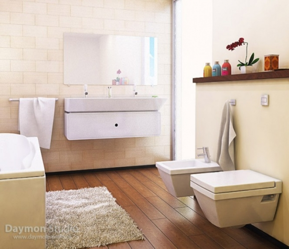 современная и практичная ванная