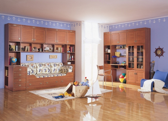 комната для мальчика в морском стиле
