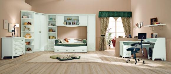 детская комната в салатовом цвете