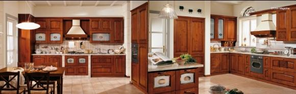 кухня из вишнёвого дерева