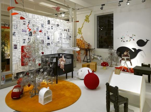 современная детская комната в стиле сафари