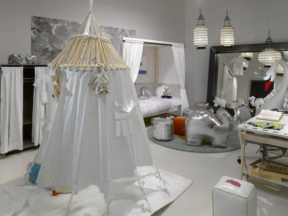 белая детская комната в марроканском стиле