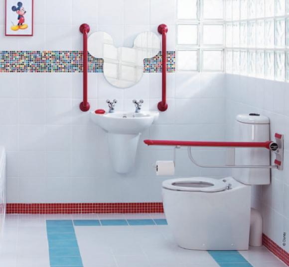 дизайн ванной комнаты для ребёнка