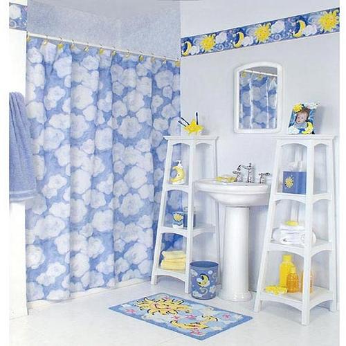 голубая детская ванная комната