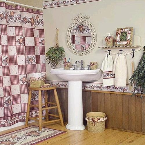 детская ванная комната стилизованная под баню