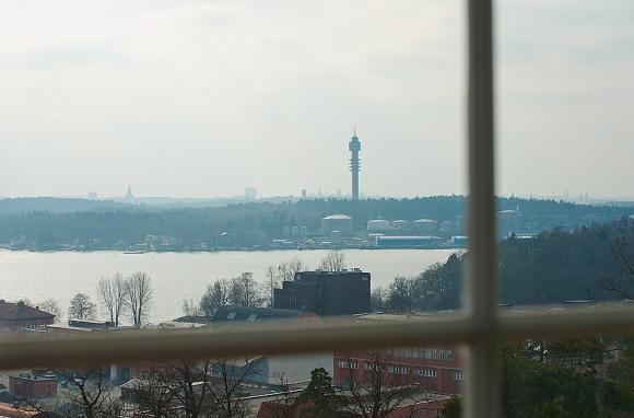 вид из окна на стокгольм