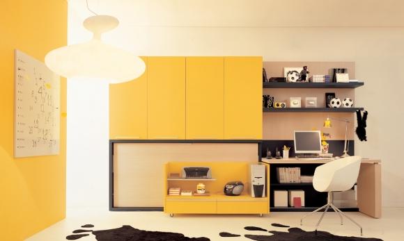 жёлтая подростковая комната