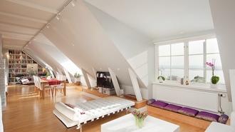 план квартиры в мансарде