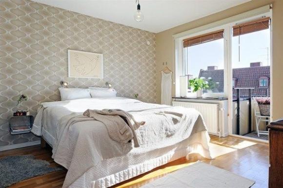 спальня с видом на крыши