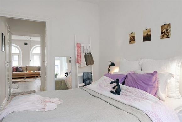стильная современная спальня для молодой девушки