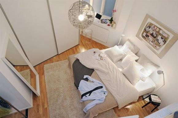 стильная современная спальня мужчины