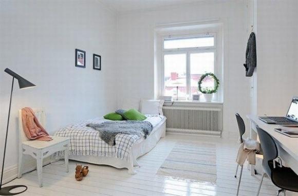 скандинавский минимализм в дизайне спальни